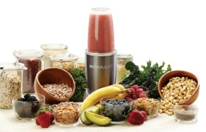 Nutribullet with fruits and veg